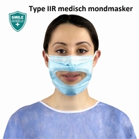 Smile Shield™ transparant medisch mondmasker type IIR